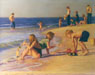 Barbie Doll and Truck Clearwater Beach - Chuck Rosenthal Fine Art Pastel Art for Giclee